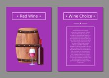 Red Wine Choice Poster Bottle of Alcohol Drink Stock Photos