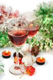 Red wine for Christmas Royalty Free Stock Photo