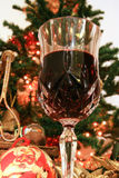 Red wine for christmas Stock Photo