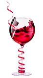 Red wine with christmas decoraion Stock Photography