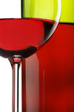 Red wine close-up Stock Photography