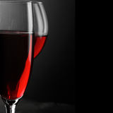 Red wine close-up Stock Photos