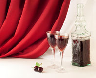 Red wine composition Stock Photography