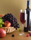 Red wine composition Stock Images