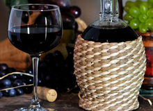 Red wine composition Royalty Free Stock Image