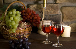 Red wine composition Stock Photo