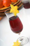 Red wine cooler. Glass of red wine cooler stock photo