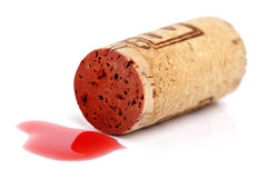 Red wine cork royalty free stock images