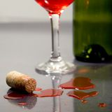 Red wine cork Stock Photos