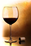 Red wine and cork Stock Photography