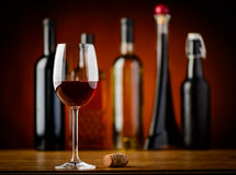 Red wine and cork Royalty Free Stock Image