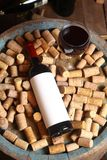 Red wine and corks Stock Photography
