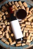 Red wine and corks Stock Photos