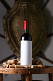 Red wine and corks Royalty Free Stock Images