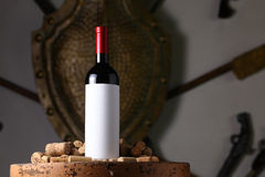 Red wine and corks Stock Image
