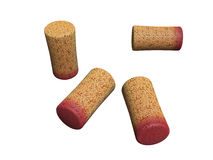 Red wine corks Stock Photos