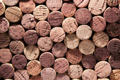 Red Wine Corks of Varying Color Stock Photography