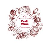 Red Wine Craft Production Concept Stock Photography