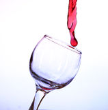 Red wine in a crystal glass Royalty Free Stock Photos