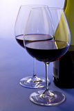 Red Wine in Crystal Glasses Stock Photography