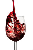 Red wine in crystal wine glass Stock Image
