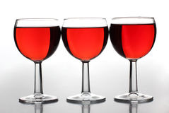 Red wine cup Stock Images