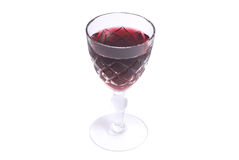 Red wine cup Stock Image