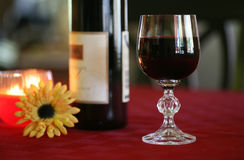 Red Wine in Cyrstal Glass Royalty Free Stock Image