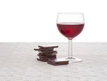Red wine and dark chocolate - healthy heart, lifestyle concept. Stock Photography