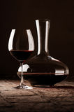Red wine in decanter Stock Image