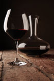 Red wine in decanter Royalty Free Stock Images