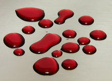 Red wine drops Stock Photo