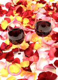 Red wine end rose petal Stock Photo