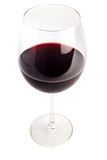 Red wine filled glass Royalty Free Stock Images