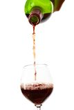 Red wine filling a glass Stock Photos