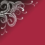 Red Wine Flamboyant Ornament Royalty Free Stock Photos