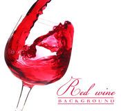 Red wine flow Stock Photo