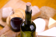 red wine and food stock photo