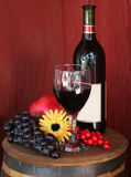 Red Wine with Fruit royalty free stock image