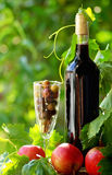 Red wine and fruits Royalty Free Stock Photo