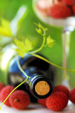 Red wine and fruits. Stock Photos