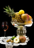 Red Wine   with fruits Stock Image