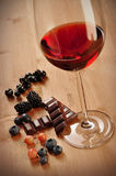 Red Wine, Fruits And Chocolate Stock Image