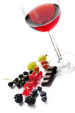 Red Wine, Fruits And Chocolate Royalty Free Stock Photos