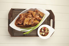 Red wine ginger chicken Stock Image
