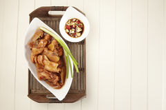 Red wine ginger chicken Royalty Free Stock Photos