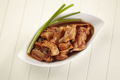 Red wine ginger chicken Royalty Free Stock Images