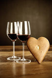Red wine and gingerbread Royalty Free Stock Image