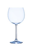 Red wine glas, empty, on white background, isolated Stock Photos