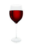 Red wine glass Stock Image